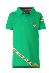 Quapi polo Amon met printopdruk en borduursels groen, Groen