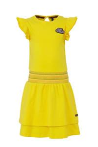 Quapi jersey jurk Amanda en borduursels fel geel, Fel geel