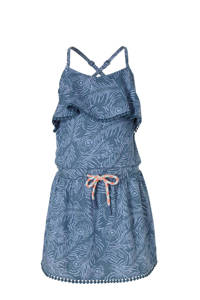 Quapi jurk Acaira met all over print blauw, Blauw