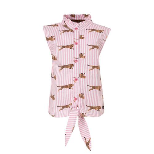 Quapi blouse Anneke met all over print en ruches l