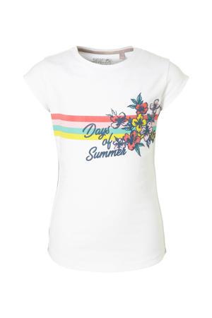 T-shirt Alfje met printopdruk wit