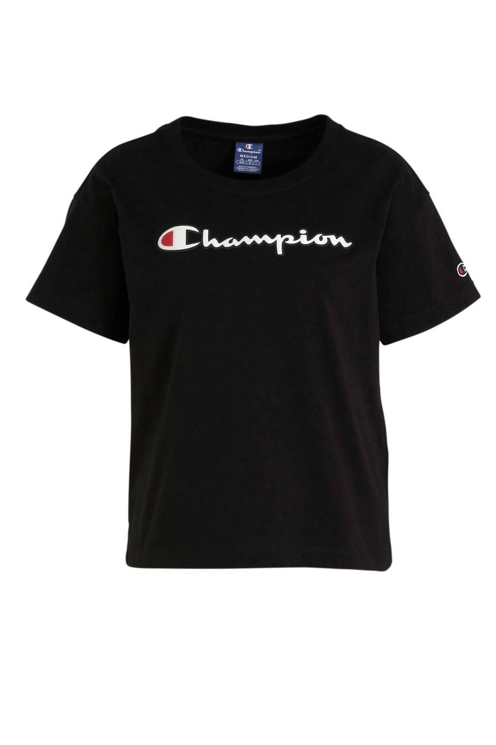 Champion T-shirt zwart, Zwart