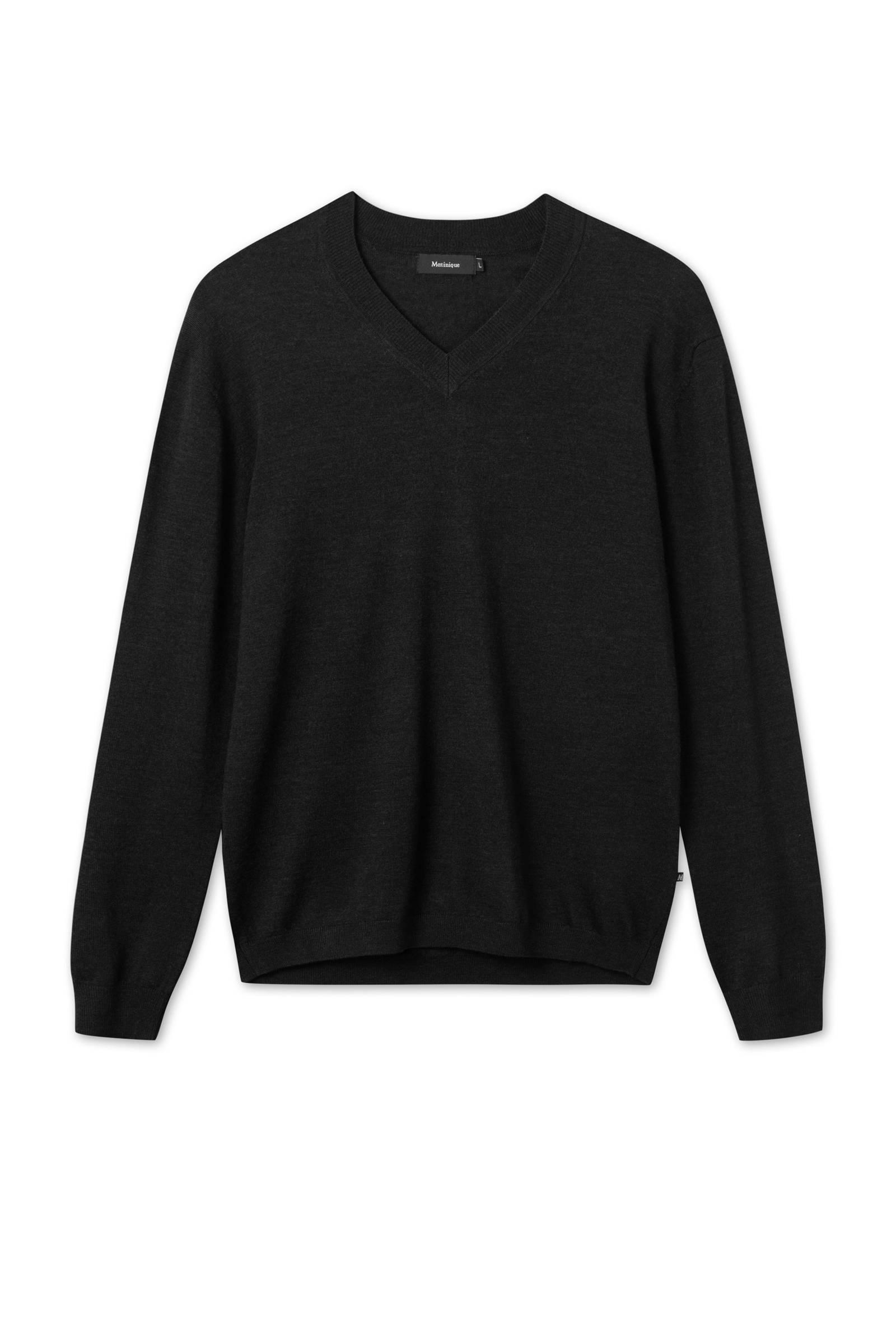 Zwarte Wollen Trui | Harvey Black | Janice
