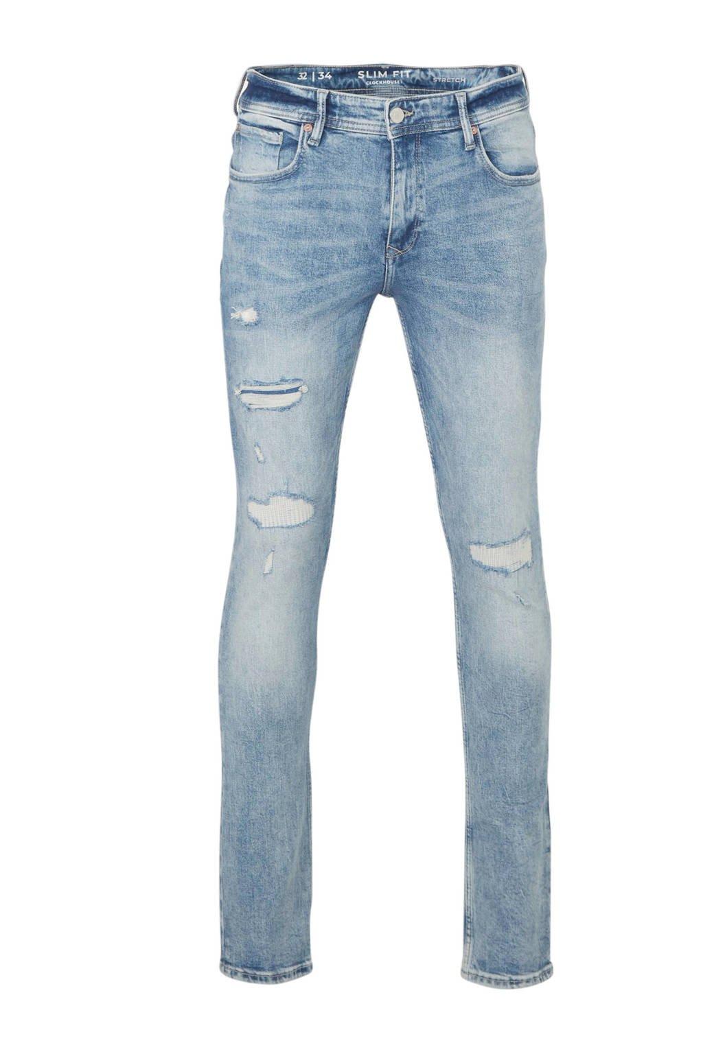 C&A Clockhouse slim fit jeans lichtblauw, Lichtblauw