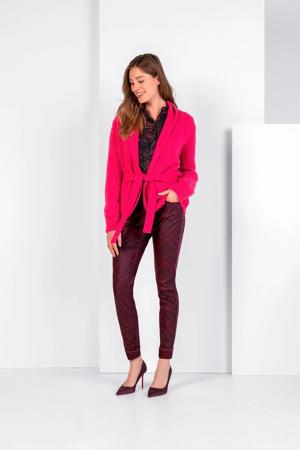vest met ceintuur roze