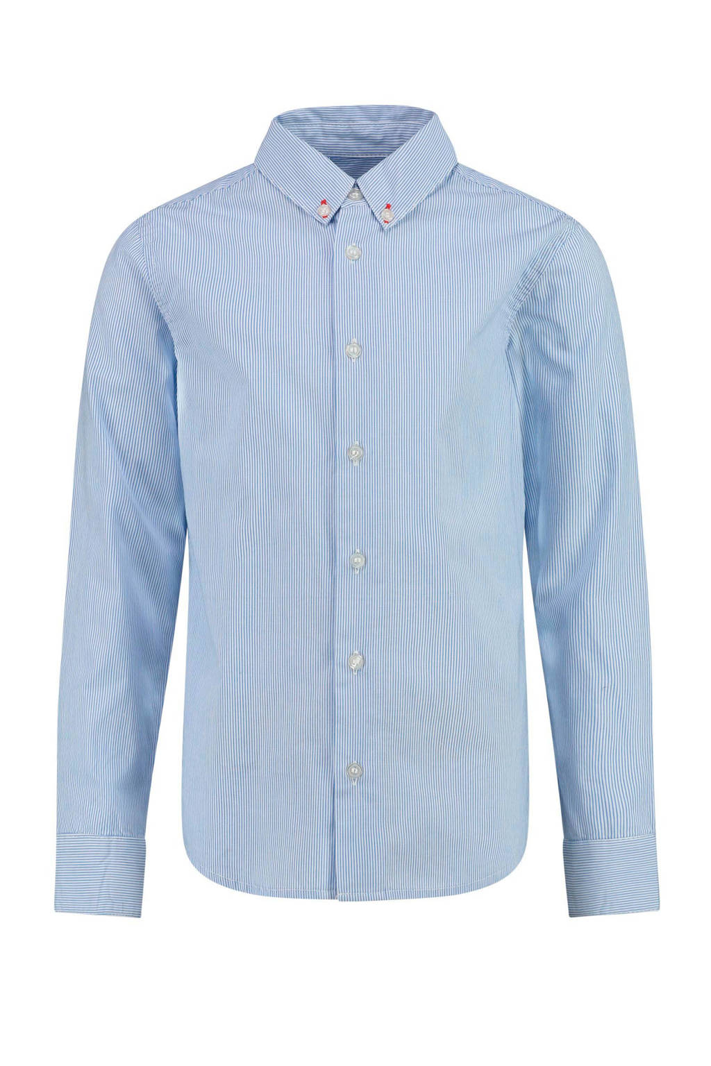 CKS KIDS gestreept overhemd Bosam lichtblauw/wit, Lichtblauw/wit