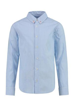 gestreept overhemd Bosam lichtblauw/wit
