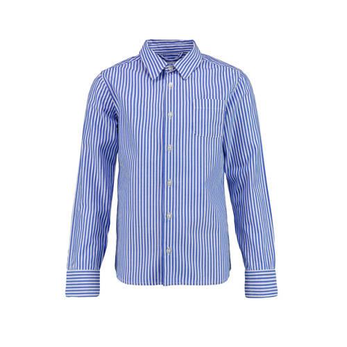 CKS KIDS gestreept overhemd Boser blauw/wit