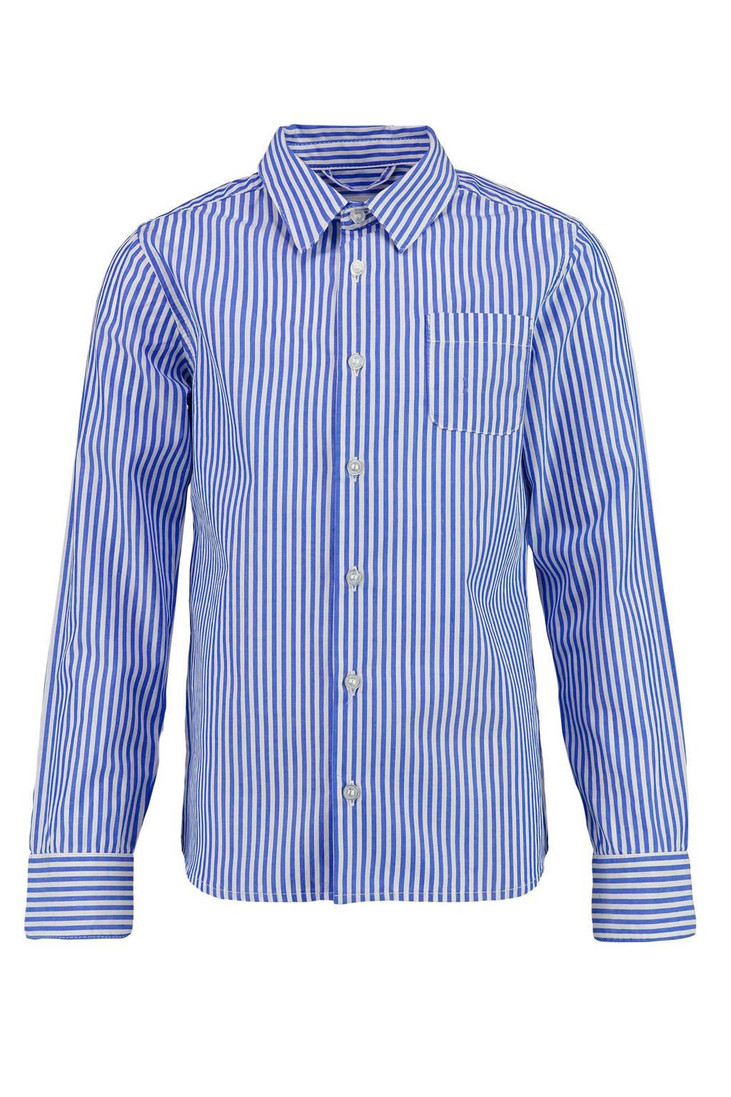 CKS KIDS gestreept overhemd Boser blauw/wit, Blauw/wit