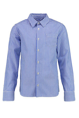gestreept overhemd Boser blauw/wit