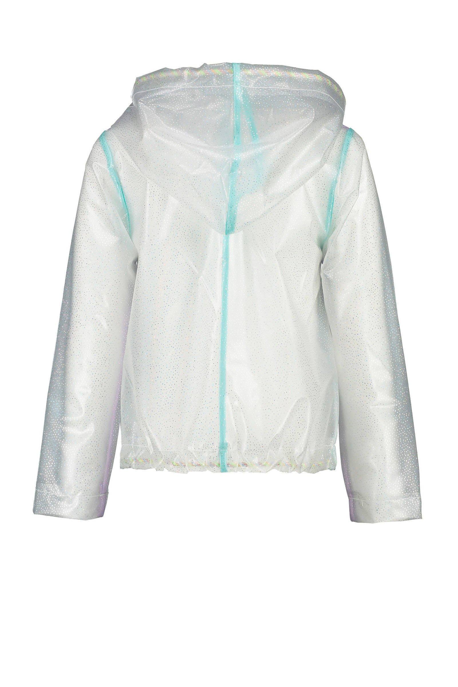 CKS KIDS semi transparante jas Hettie met all over print wit
