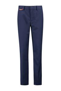 CKS KIDS skinny broek Burling donkerblauw/oranje, Donkerblauw/oranje