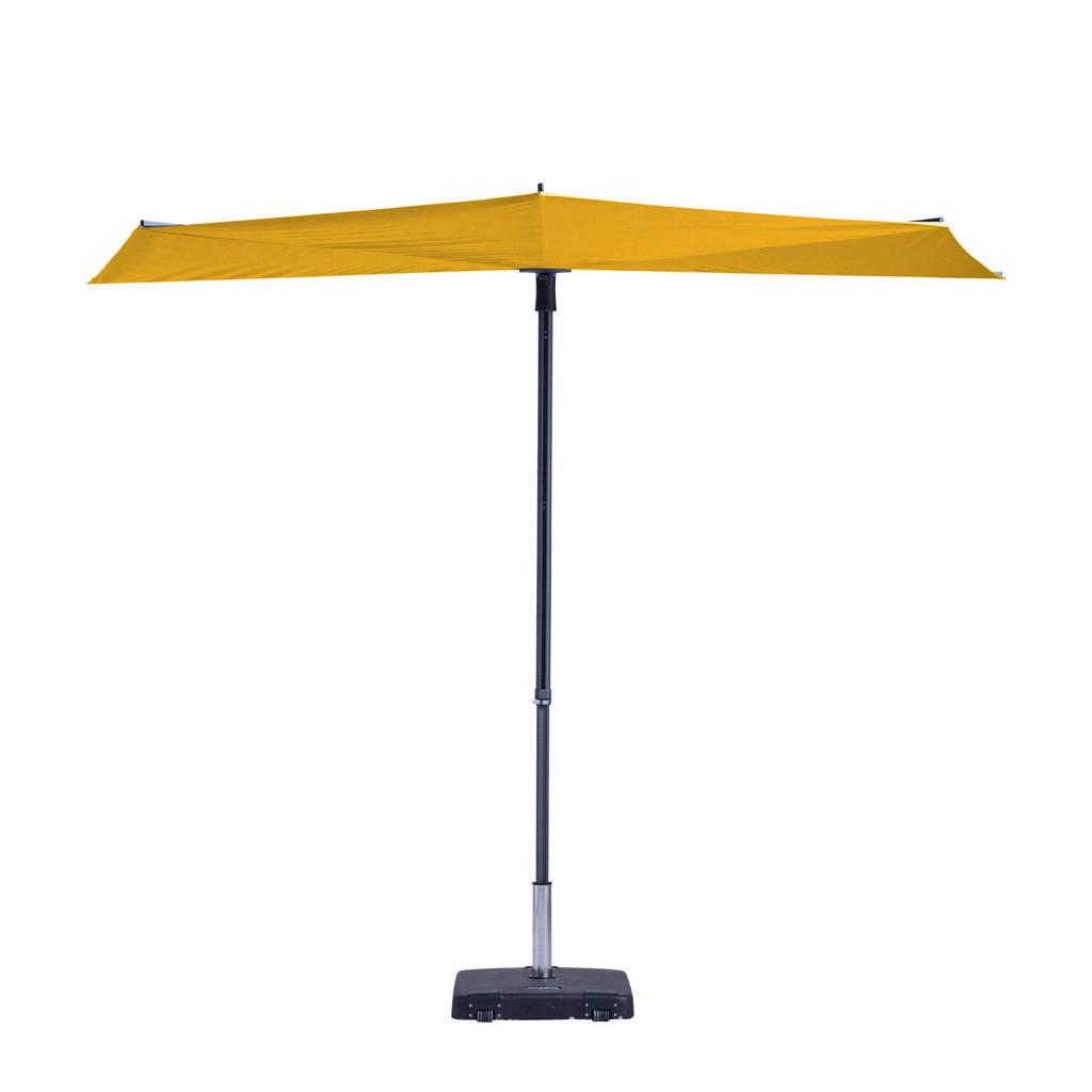 Madison parasol Sun Wave (300x150 cm), Geel