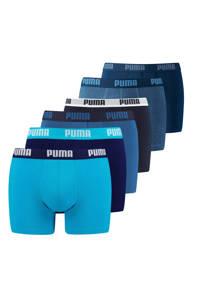 Puma boxershort (set van 6), Blauw