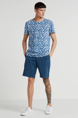 T-shirt Storm met all over print blauw
