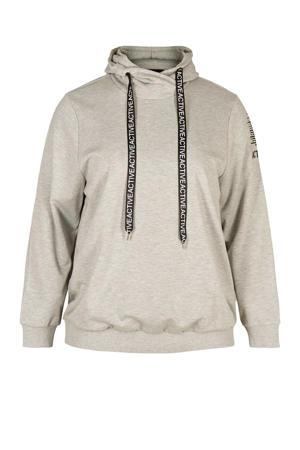 Plus Size sportsweater grijs melange