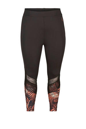 Plus Size 7/8 sportbroek zwart