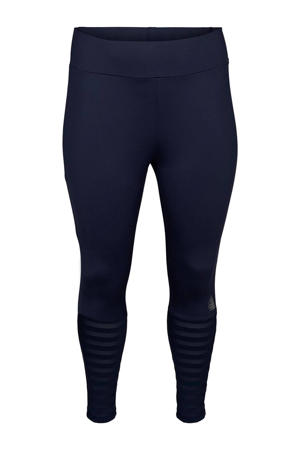 Plus Size 7/8 sportbroek donkerblauw
