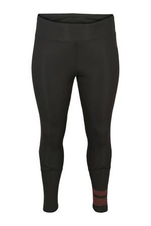 Plus Size sportbroek zwart/roze