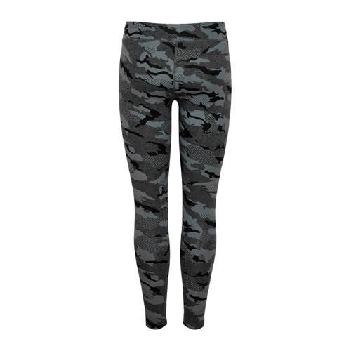 ONLY PLAY sportbroek camouflageprint grijs