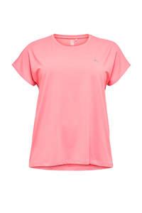 Only Play Curvy sport T-shirt roze, Roze