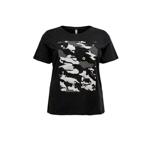 Only Play Curvy sport T-shirt zwart