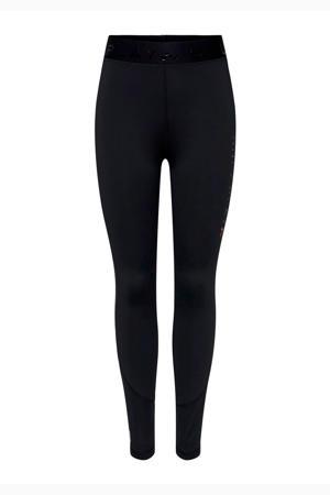 high waist sportbroek zwart