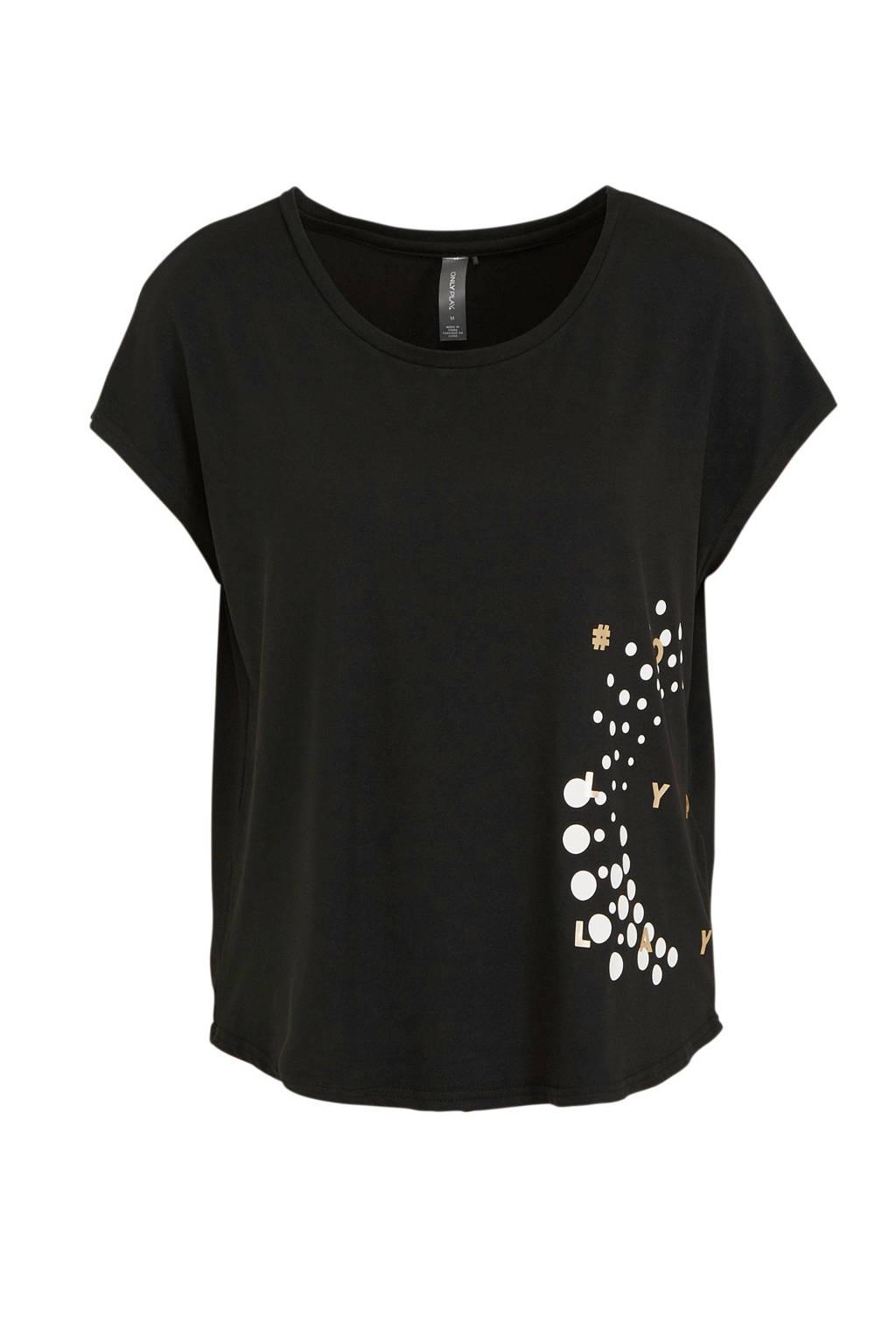 ONLY PLAY sport T-shirt zwart, Zwart