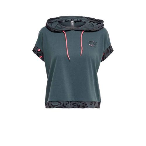 ONLY PLAY sport T-shirt grijsblauw