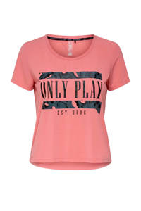 ONLY PLAY cropped sport T-shirt roze, Roze
