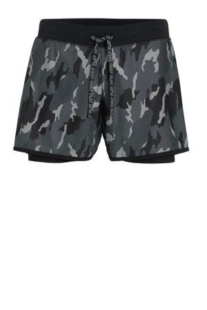 sportshort camouflage grijs/zwart