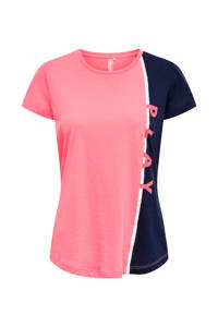 ONLY PLAY sport T-shirt roze/donkerblauw, Roze/donkerblauw