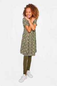 WE Fashion gebloemde blousejurk kaki, Kaki