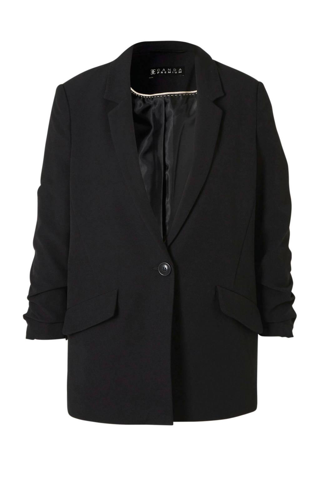 C&A blazer met plooien black28, Black28