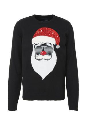 gebreide kersttrui zwart