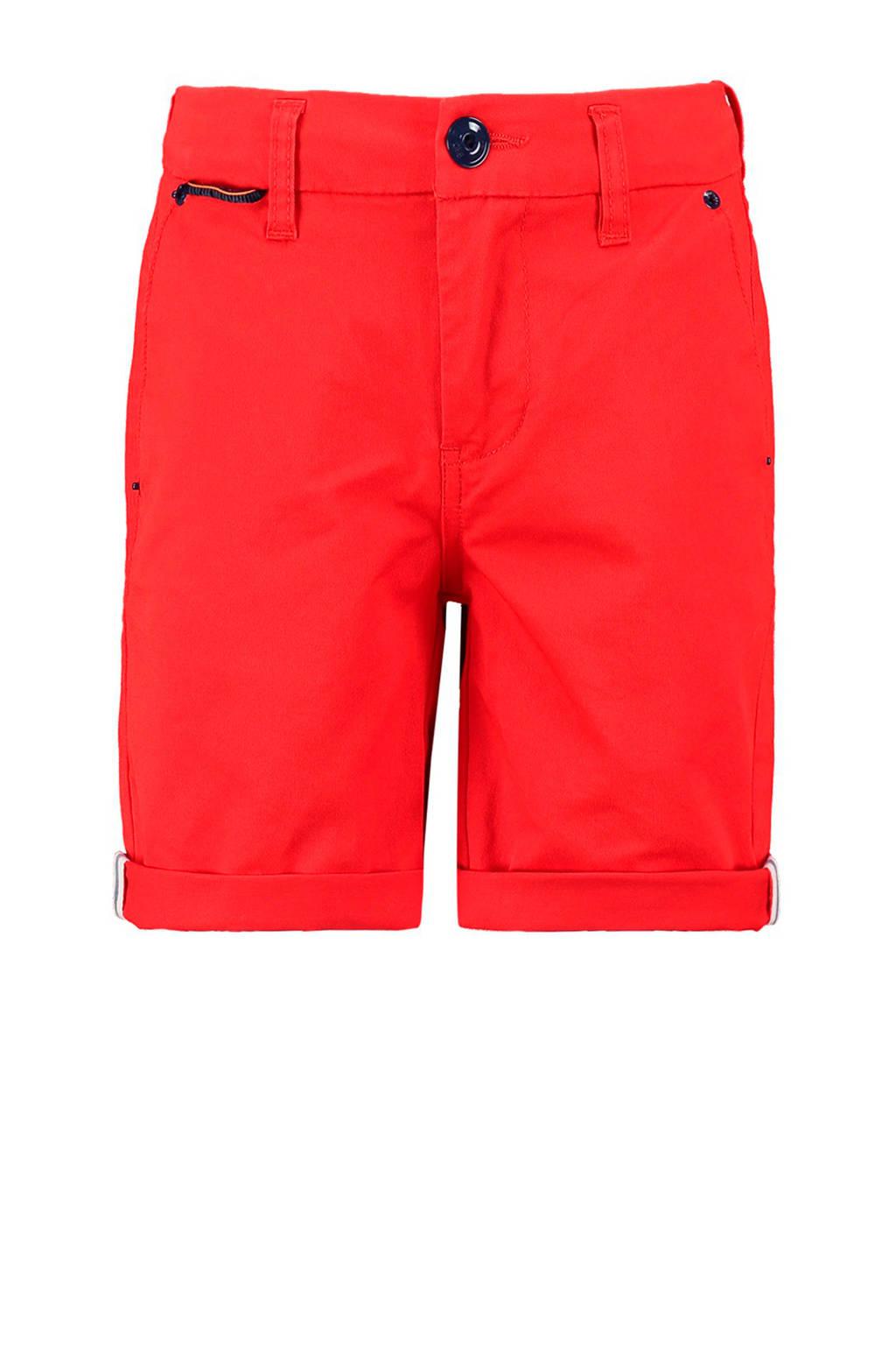 CKS KIDS bermuda Bolton met zijstreep rood, Rood/wit/donkerblauw