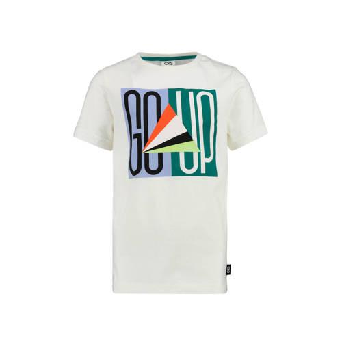 CKS KIDS T-shirt Yehan met printopdruk wit/lictbla