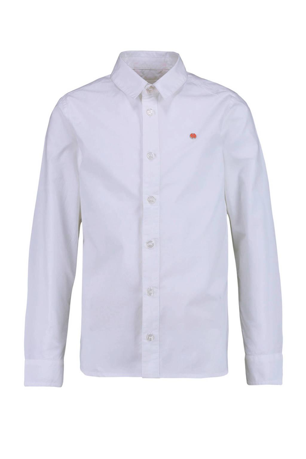 CKS KIDS overhemd Botanuni met 3D applicatie wit/rood, Wit/rood