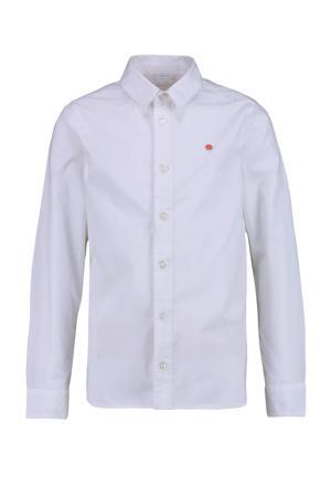 overhemd Botanuni met 3D applicatie wit/rood