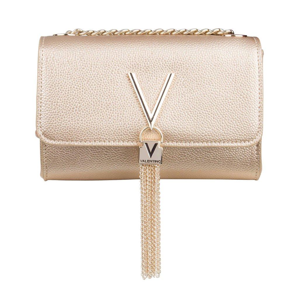 Valentino   crossbody tas goud, Beige
