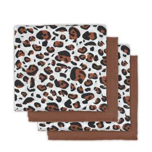 hydrofiele luiers 70x70 cm Leopard natural - set van 4