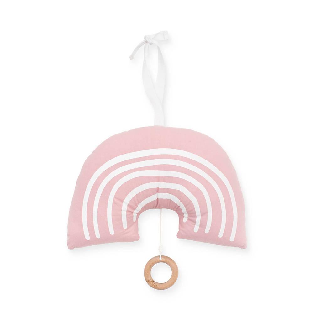 Jollein muziekhanger Rainbow blush pink, Roze