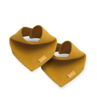 Jollein slab bandana Brick velvet mustard - set van 2, Okergeel