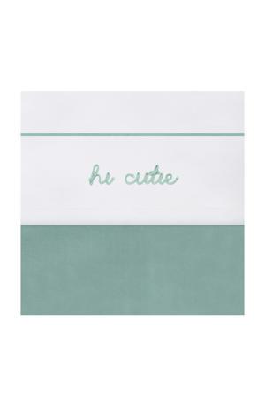 beby ledikantlaken 120x150 cm Hi cutie ash green