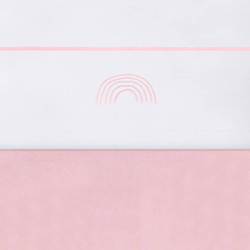 Jollein baby wieglaken 75x100 cm Rainbow blush pink, Wit/roze