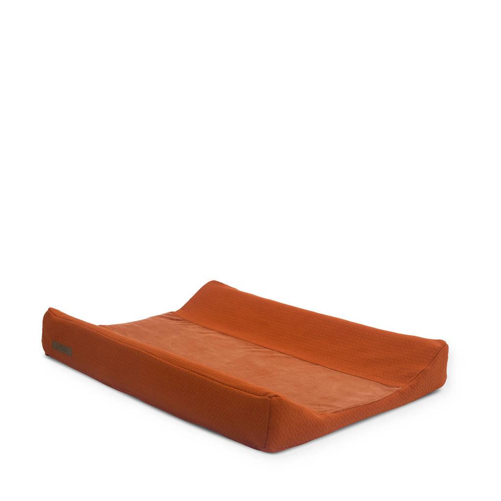 Jollein aankleedkussenhoes 50x70 cm Brick velvet rust, Brique