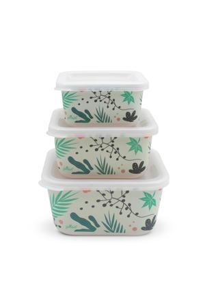 snackbox bamboe Leaves - set van 3