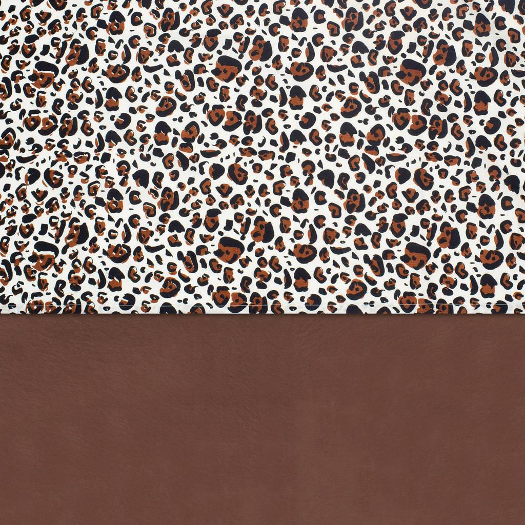 Jollein baby ledikantlaken120x150 cm Leopard natural, Beige/bruin