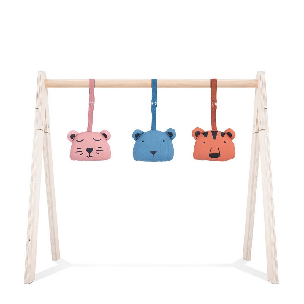 Jollein speeltjes Animal club, Rood/blauw/roze