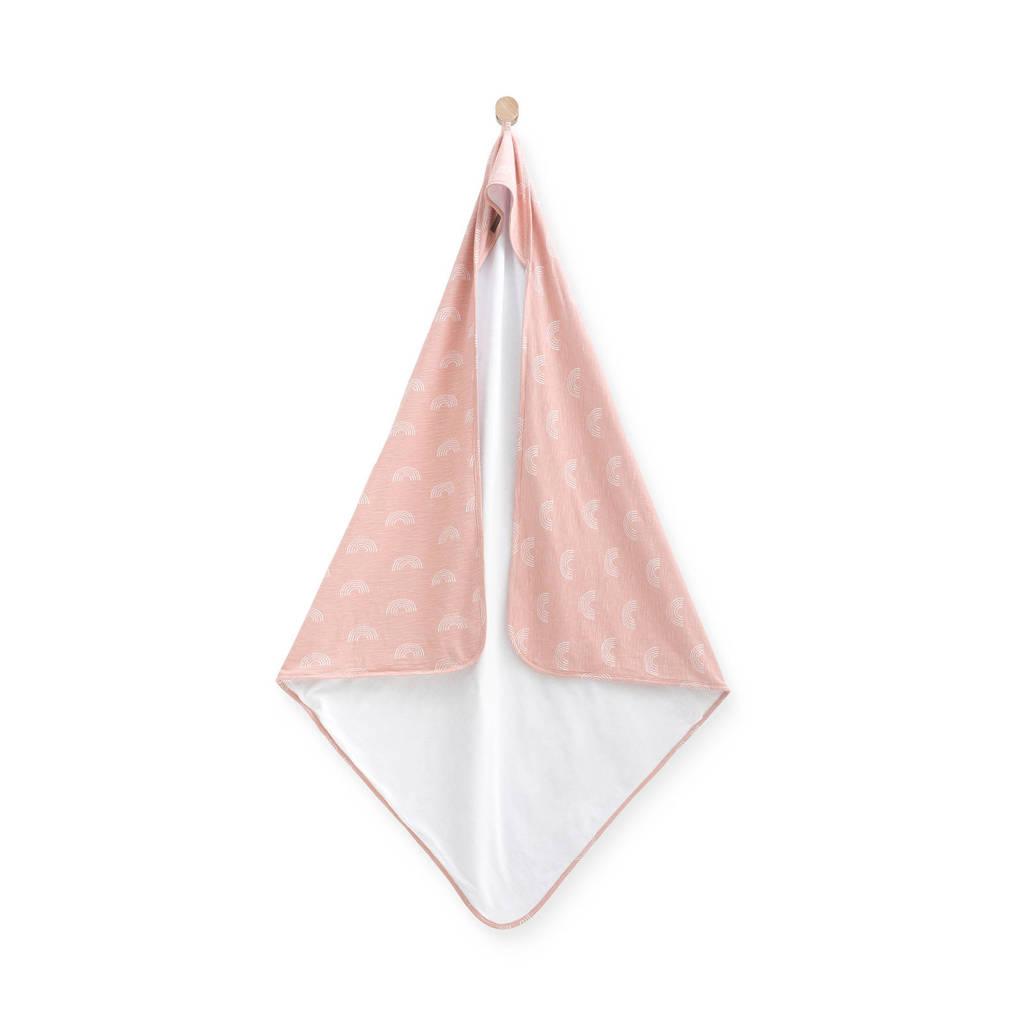 Jollein badcape 100x100 cm Rainbow blush pink, Roze